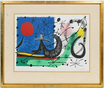"""Miro Lithograph, """"Le L�zard aux Plumes d'Or"""", 1967"""
