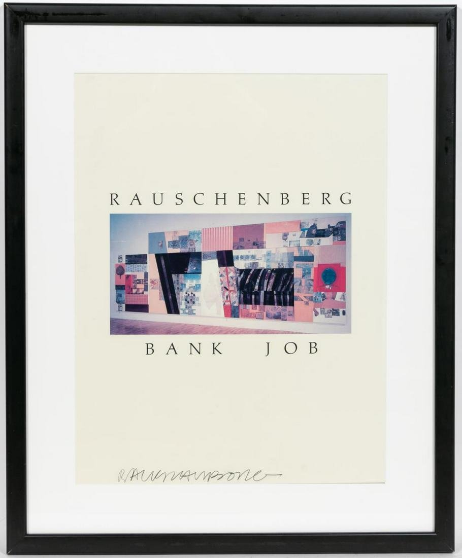 "Robert Rauschenberg ""Bank Job"" Signed Lithograph"