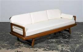 Adrian Pearsall Style Walnut Framed MCM Sofa
