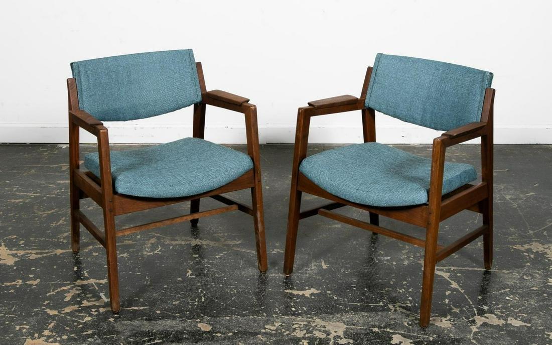 Pair, Mid Century Modern Walnut Chairs