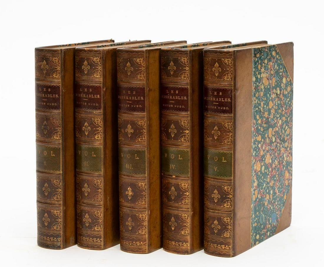 "Five Volume Set, Victor Hugo ""Les Miserables"" 1891"
