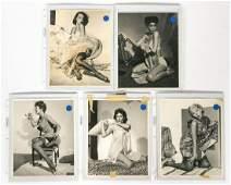 Five Gil Elvgren Pinup Girl Silver Gelatin Prints