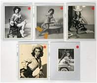 Five Gil Elvgren Silver Gelatin Pinup Photographs