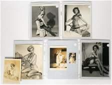 Five Gil Elvgren Silver Gelatin Pinup Model Poses