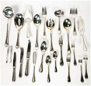 "Christofle ""Perles"" Silverplated Flatware Set"