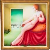 Philippe Auge Oil on Canvas Roman Spell