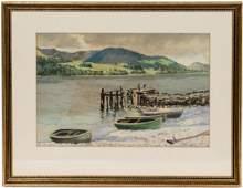 "Thomas Anshutz ""Overcast"", Watercolor Painting"