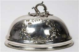 19th C. English Silverplated Meat Dome Cover