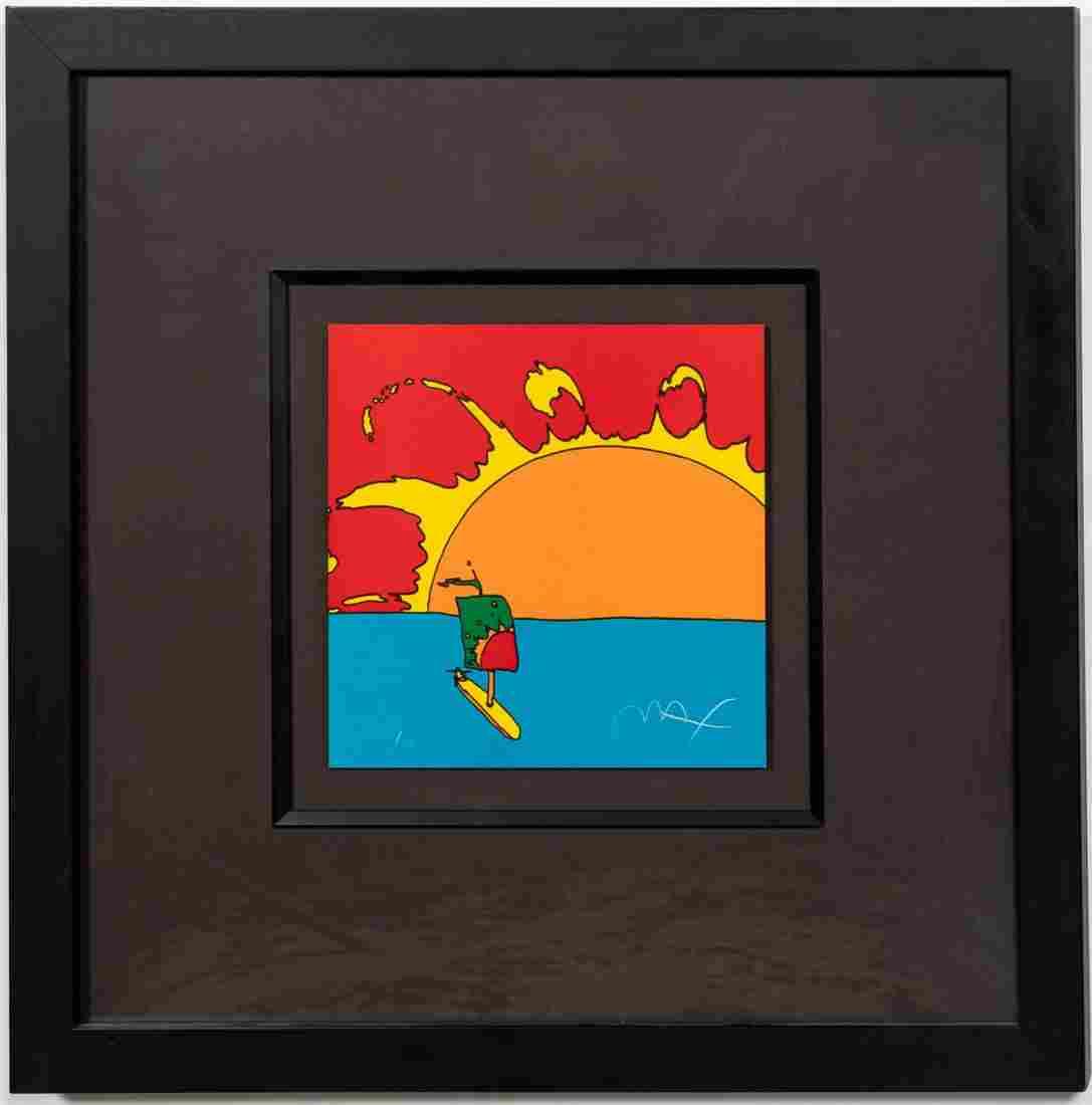 "PETER MAX, ""SUNRISE SAIL"" LITHOGRAPH 1973"
