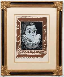 """PABLO PICASSO, """"LA FEMME A LA COLLERETTE"""", 1963"""