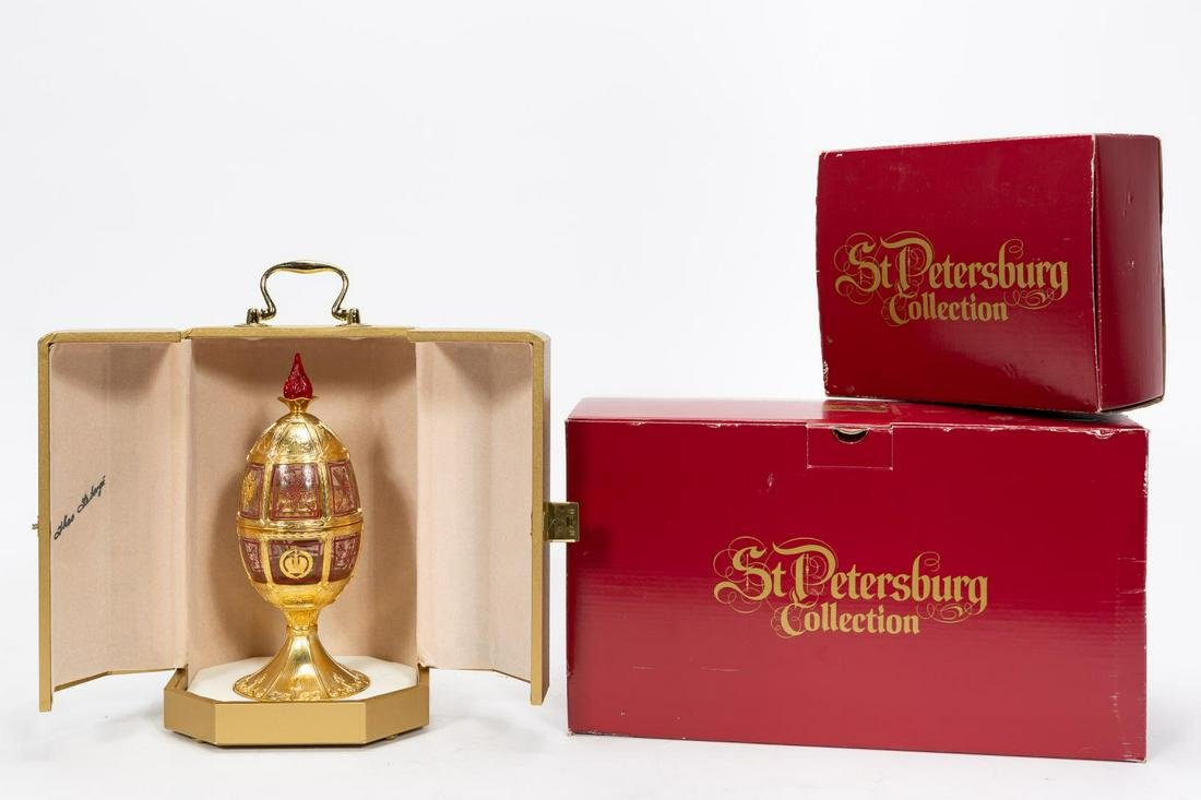 """THEO FABERGE, """"1996 OLYMPIC GAME"""" VERMEIL EGG"""