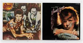 """DAVID BOWIE AUTOGRAPHED RECORDS, """"YOUNG AMERICANS"""""""