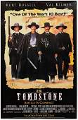 CAST SIGNED TOMBSTONE MOVIE POSTER KURT RUSSELL