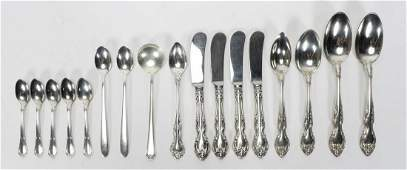 17 PC MIXED AMERICAN STERLING SILVER FLATWARE