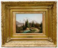 GUSTAVE DORE MOUNTAIN LANDSCAPE SIGNED OIL