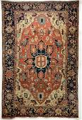 19TH C. HANDWOVEN ROOM-SIZED SERAPI CARPET