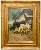 SCHMITZ GERMAN SCHOOL EQUESTRIAN PAINTING