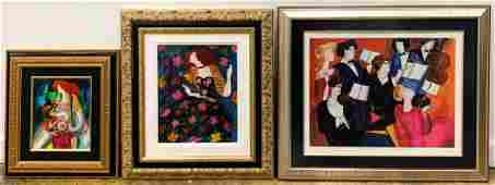 THREE LINDA LE KINFF FIGURAL SERIGRAPH WORKS