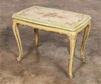 E. 20TH C. FRENCH PAINTED SMALL TEA TABLE