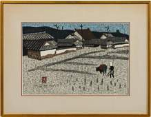 KIYOSHI SAITO JAPANESE WOODBLOCK PRINT FRAMED