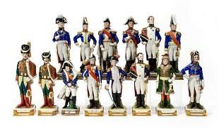14 NAPOLEONIC WAR PORCELIAN SOLDIER FIGURINES