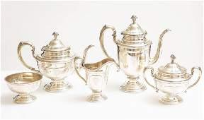 Sterling 5Pc Tea Set by Towle Louis XIV