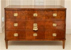 19th C. Neoclassical Style Mahogany Commode