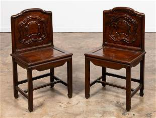 PR, CHINESE HARDWOOD SQUARE PANEL BACKED CHAIRS