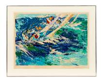 LEROY NEIMAN SERIGRAPH HIGH SEAS SAILING 1976