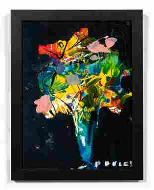 STEVE PENLEY, ABSTRACT FLORAL ACRYLIC PAINTING