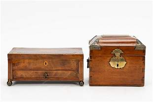 2 PCS, ENGLISH & CONTINENTAL WOODEN BOXES