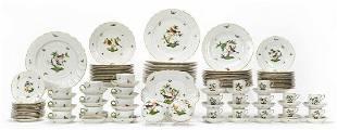 115 PCS, HEREND ROTHSCHILD BIRD DINNER SERVICE