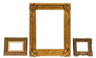 3 PCS, GILTWOOD PAINTING OR MIRROR FRAMES