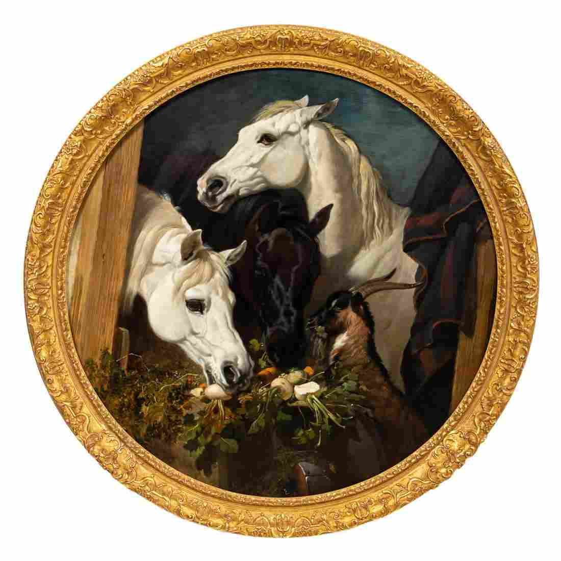 JOHN FREDERICK HERRING, OIL ON CANVAS, EQUESTRIAN
