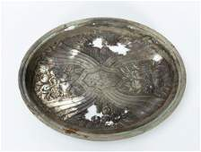 RMS CARPATHIA SALVAGED SILVERPLATE SERVING DISH