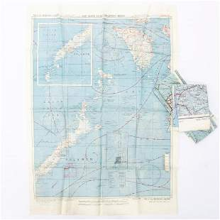 3 PCS, GROUP OF U.S. MILITARY WWII SURVIVAL MAPS