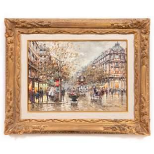 ANTOINE BLANCHARD, IMPRESSIONIST PARISIAN STREET