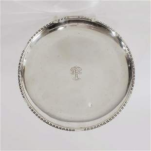 CARTIER, STERLING SILVER ROUND SERVING TRAY