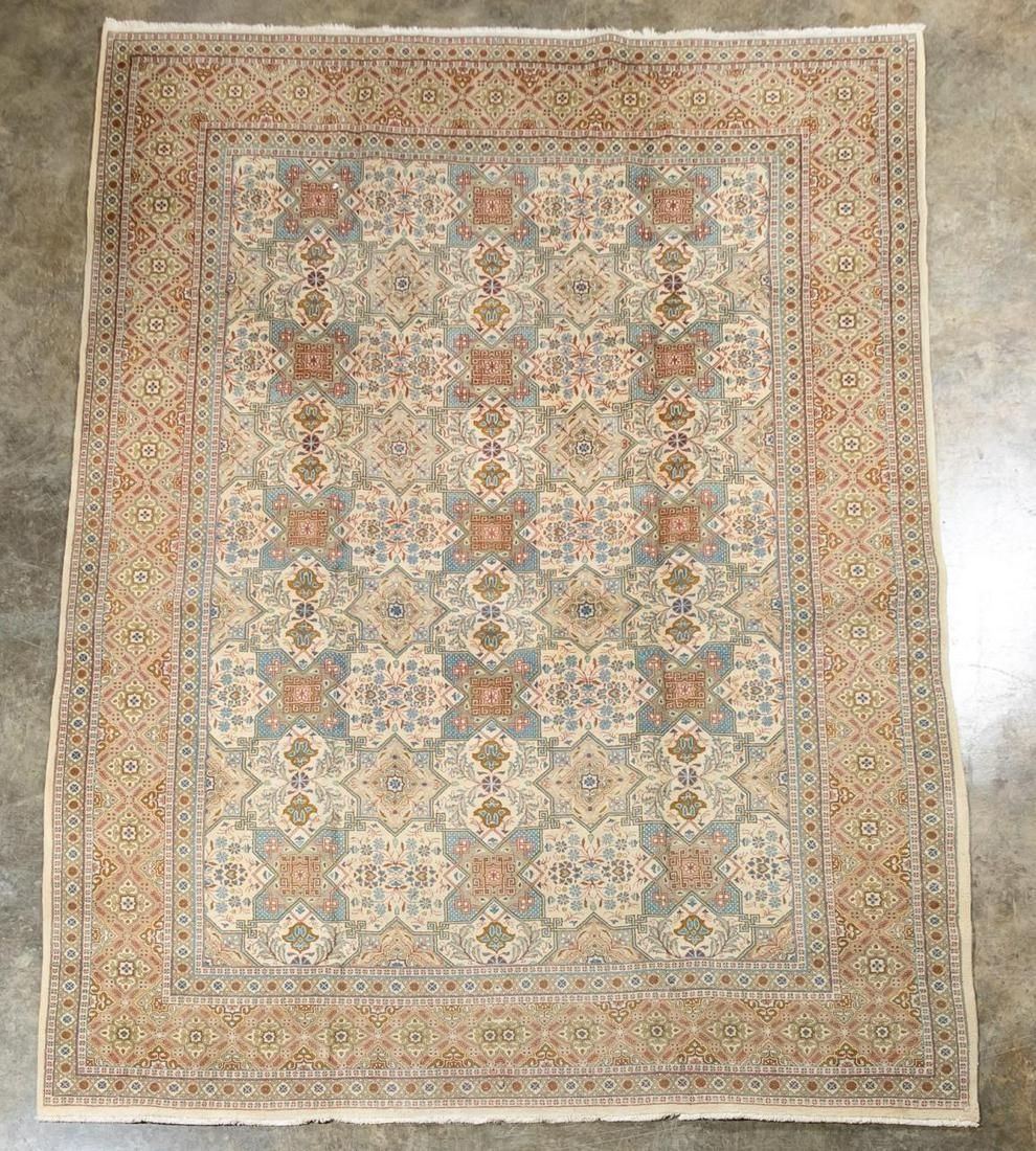HAND WOVEN INDO-PERSIAN WOOL CARPET