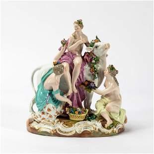 "MEISSEN ""EUROPA & THE BULL"" PORCELAIN FIGURINE"
