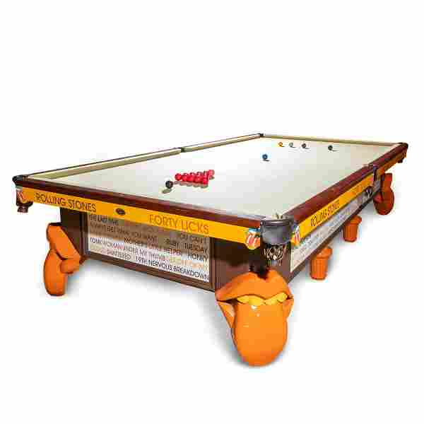 2000S ROLLING STONES CUSTOM MADE SNOOKER TABLE
