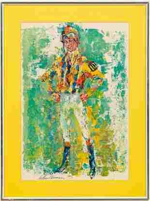 LEROY NEIMAN, EQUESTRIAN PRINT, 1970, FRAMED