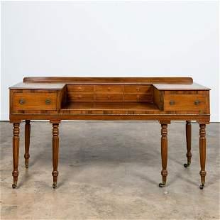 19TH C. MAHOGANY & ROSEWOOD PIANOFORTE DESK