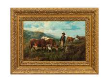 THOMAS SIDNEY COOPER PASTORAL OIL ON CANVAS