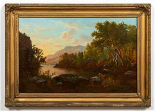 HUDSON RIVER SCHOOL PERIOD LANDSCAPE PAINTING