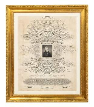 IN HONOUR OF ANDREW JACKSON, ENGRAVING, 1835