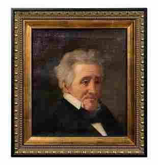 PORTRAIT OF PRESIDENT ANDREW JACKSON, O/C