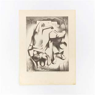 """KENNETH ADAMS, """"THE SPRING"""" LITHOGRAPH,"""