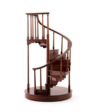 WOODEN ARCHITECTURAL SPIRAL STAIRCASE MODEL