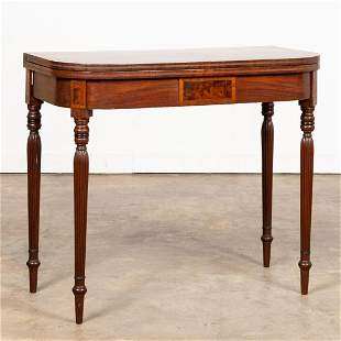 19TH C. AMERICAN FEDERAL MAHOGANY GAMES TABLE